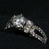 Have You Seen the Ring?: 1.03ct Center 5 Stone Engagement Ring