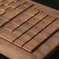Hacoa Wooden Full Keyboard H930-W Walnut