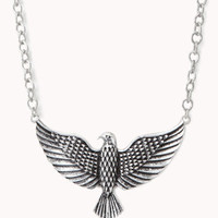 Etched Eagle Necklace