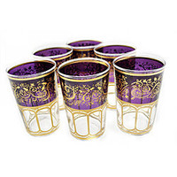 Set of 6 Mek Purple Tea Glasses (Morocco) | Overstock.com