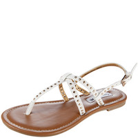 Payless, Women's Sawyer Studded Flat Sling, Women's