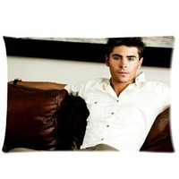 "Amazon.com: Zac Efron Pillowcase Standard Size 20""x30"" PWC1391: Home & Kitchen"