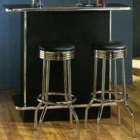 Union Square Soda Fountain Home Bar - Chrome Trim! from The Home Bar Superstore