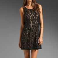 Free People Miles of Lace Tank Dress in Black from REVOLVEclothing.com