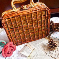 Let&#x27;s Go Picnic Retro Suitcase - Retro, Indie and Unique Fashion