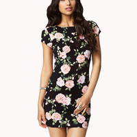 Garden Rose Bodycon Dress