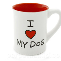 I HEART MY DOG MUG