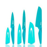 Art and Cook 3-Piece Knife Set, Large, Turquoise