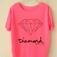 Candy Colored Diamond T-shirt for Summer