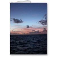 Scenic Caribbean Sunset near Tobago Greeting Cards from Zazzle.com
