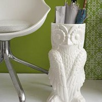 Owl Vase Stand O at Home Oprah Umbrella Flowers