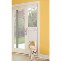 The Automatic Electronic Pet Door - Hammacher Schlemmer