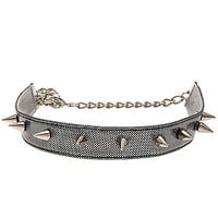 O-Mighty Choker Spikey Studded Holgram in Gunmetal