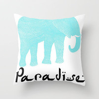 Paradise Throw Pillow by Courtney Anchundia