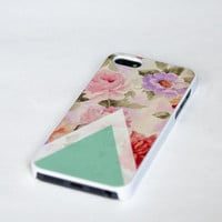 iphone 5 case vintage floral  teal mint geometric by IdeaCase
