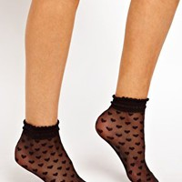 ASOS Socks With Heart Print at asos.com