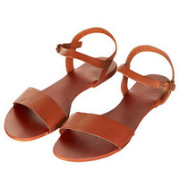 HOUPLA Leather Strap Sandal - Flat Sandals