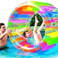 "Water Wheel - Giant Inflatable Swimming Pool Water Wheel Toy (49"" X 33""):Amazon:Toys & Games"
