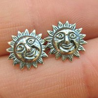 Silver Sun Studs from SecondChance