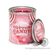 Green Earth Stores | 00213831803 - Fair Scented Tin Candle - Cotton Candy
