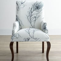 Black & White Feather Host Chair
