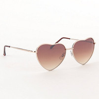 With Love From CA Metal Heart Frame Sunglasses at PacSun.com