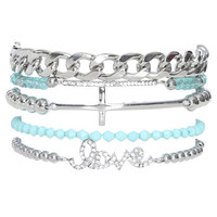 5 Piece Rhinestone Friendship Bracelet | Shop Jewelry at Wet Seal