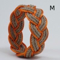 Tan Sailor Knot With Orange Outline Medium | MysticKnotwork - Jewelry on ArtFire