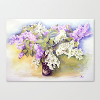 Lilacs bouquet Stretched Canvas by Vargamari