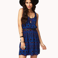 Cutout Tribal-Inspired Dress