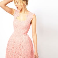 ASOS Cupped Structured Dress In Lace
