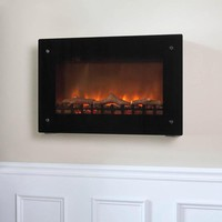 Wall-Mounted Indoor Electric Fireplaces at Brookstone—Buy Now!