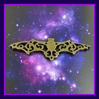 Bronze Filigree Bat Charms (2 pack) LOW SHIPPING