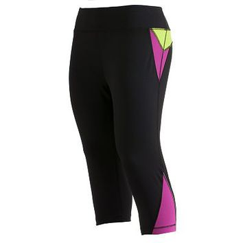 Tek Gear Striped Performance Capri Leggings - Women's Plus
