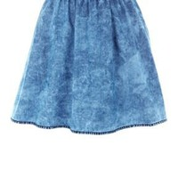 Acid wash skater skirt