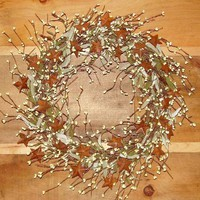 Sterberry Wreath / Ivory Pips n' Rusty Stars