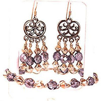 Glass Chandelier Earring set