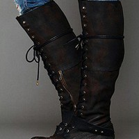 Free People  Landmark Lace Boot at Free People Clothing Boutique