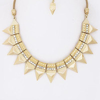 Phoenix Crystal Stud Necklace - Gold -  $26.00 | Daily Chic Accessories | International Shipping
