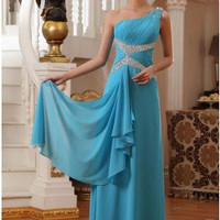 One Shoulder Sequins Prom Dress Sheath Sexy Evening Dress