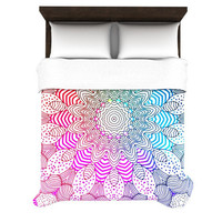 "*** SPRUCE UP YOUR APARTMENT *** with Monika Strigel ""RAINBOW DOTS"" Duvet Cover 