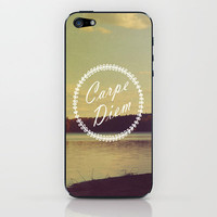Carpe Diem  iPhone & iPod Skin by Rachel Burbee