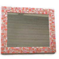 Mosaic Mirror, Pink Nursery Decor