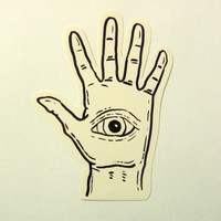 All Seeing Eye Hand Sticker