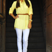 The Outback Tunic: Pale Yellow | Hope's