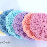 Face Scrubbies THICK Textured Crochet Washcloths Set of 7