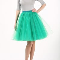 Emerald tulle skirt, emerald tutu skirt, petticoat, wedding skirt, custom made to order