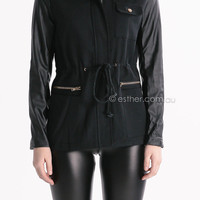 world of mystery jacket - black at Esther Boutique