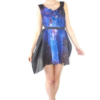 Magellanic Cloud Light Cotton Galaxy Dress by Shadowplaynyc