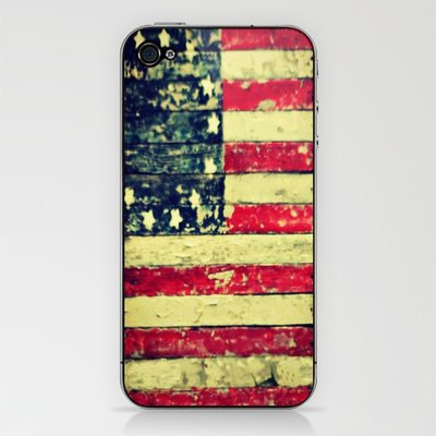 Folk Art Flag iPhone &amp; iPod Skin by RDelean | Society6